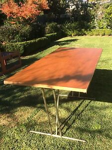 Folding solid timber trestle table Nowra Nowra-Bomaderry Preview