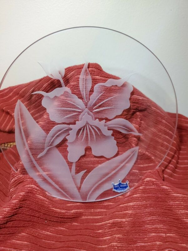 Frank Y ODA ORCHID ETCHED IN GLASS
