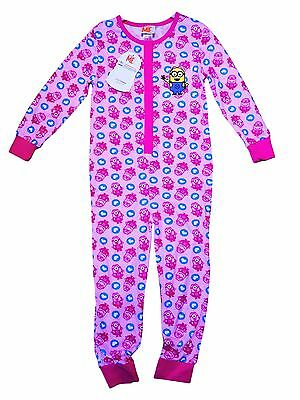 Girls Despicable Me Minion All In One Pink Pyjama PJs  5 - 6 Years  New