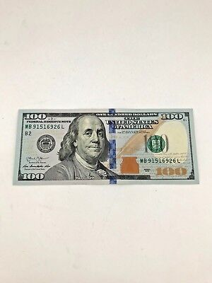 Money 100 Dollar Bill (New Uncirculated $100 One Hundred Dollar Bill in Sequential Order US Real Money)