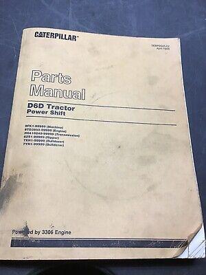 Cat Caterpillar D6d Parts Manual Book Catalog Tractor Bulldozer 3306 Engine