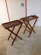 MASSIVE EOFY SALE Two Matching Mahogany Tray Tables Chermside West Brisbane North East Preview