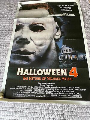 HALLOWEEN 4 Original Movie poster. Folded.