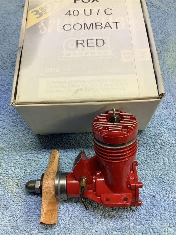 Custom Fox 40 Control Line Engine Red Coated Display Engine 1 Of A Kind Duke Fox