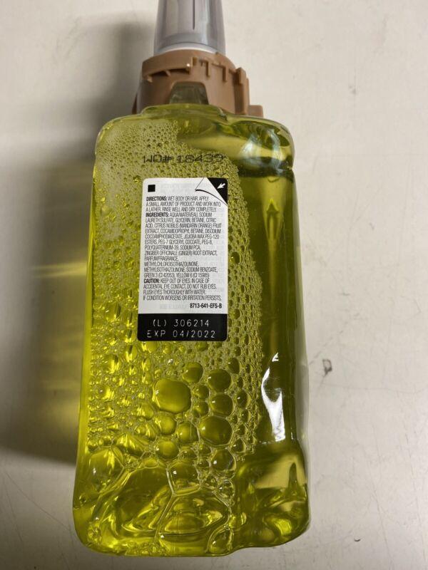GOJO Adx-12 Refills, Citrus Floral/ginger, 1250ml Bottle, 3/carton  881303 New