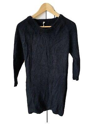 IRO Angora Jumper Dress Black Size 3 (UK 8)