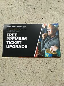 Selling 6 Cineplex Premium Upgrade Tickets