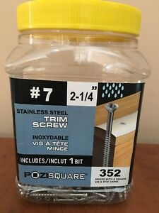 Stainless steel trim screws brand new in box