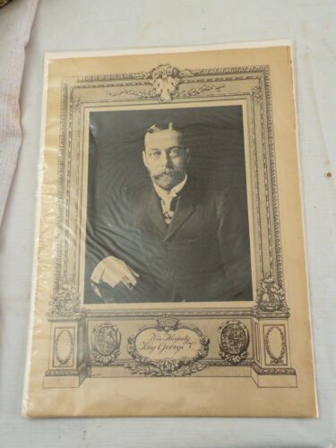 "2 Prints, 16"" by 11.5"", of King George V and Queen Mary ca. 1915, SEALED"