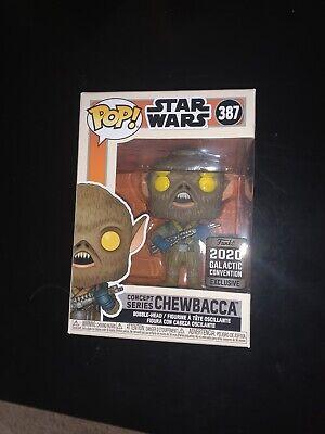 Funko Pop Concept Series 387 Chewbacca Star Wars Celebration Anaheim Sticker