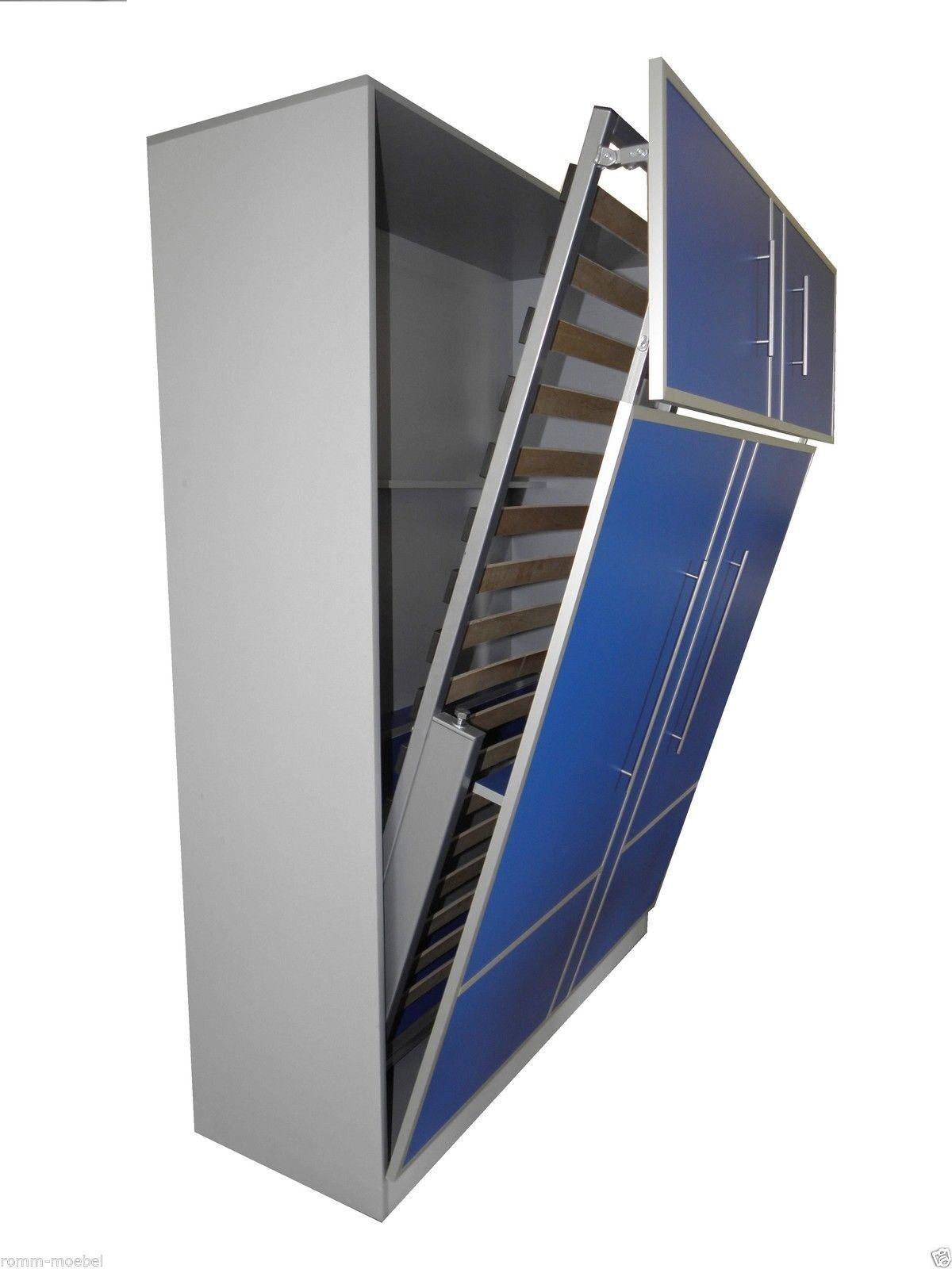 schrankbett wandbett klappbett 50 w 2 90x200 cm holzfarbe. Black Bedroom Furniture Sets. Home Design Ideas