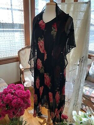 April Cornell Sheer Black Triangle Rayon Shawl with Sequins (Dress NOT included) for sale  Minneapolis