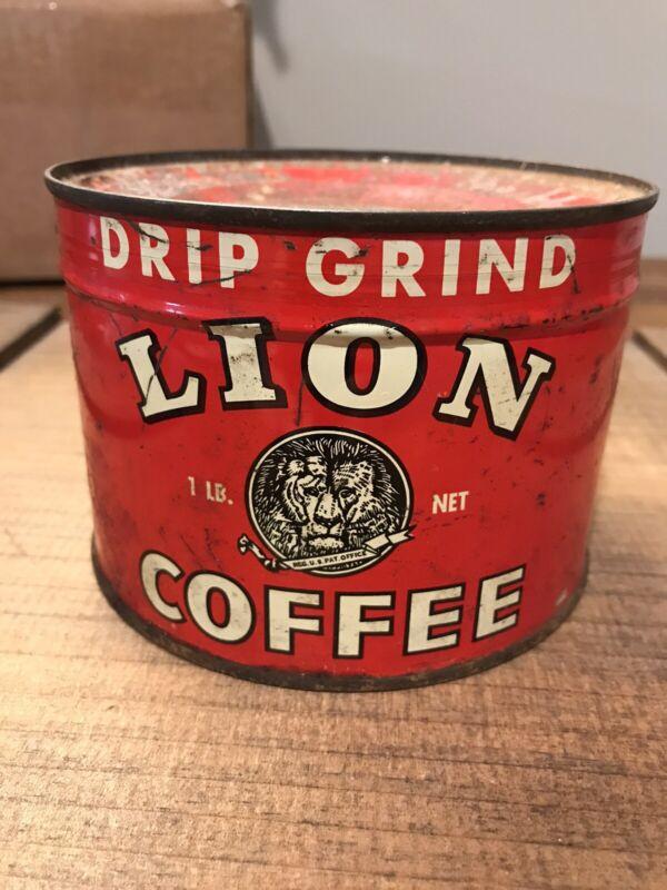 Lion Coffee Tin Sealed Full
