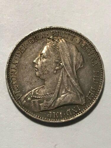 1900 Great Britain Groat/4 Pence VF++ #16449