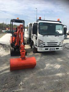 1.7 Tonne Zero Swing Mini Excavator / Tipper Dry Hire