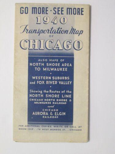 Chicago Transportation Map 1940 Rapid Transit