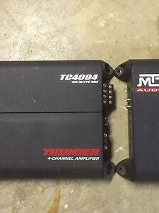 MTX amps 4 channel and sub amplifier
