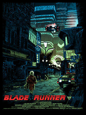 """Blade Runner """"We Scared..."""" EXCLUSIVE Movie Poster Tim Doyle S/N /200 NT Mondo"""