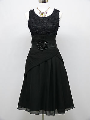 Cherlone Black Prom Ball Evening Bridesmaid Wedding Knee Length Formal Dress 14