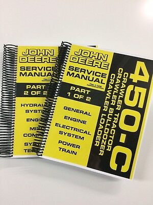 John Deere 450c 450-c Crawler Dozer Loader Service Manual Tm-1102 650 Pages