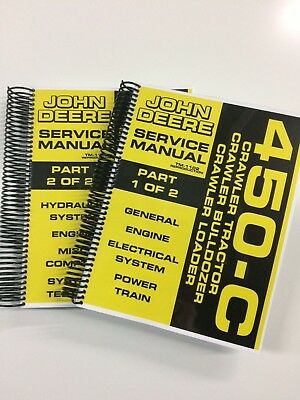 John Deere 450c 450-c Crawler Dozer Loader Service Manual Tm-1102 650 Pages