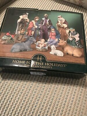 Home-for-the-Holidays-Christmas-12-Piece-HandPainted-Porcelain-Xmas-Nativity-Set](Nativity Sets For Christmas)