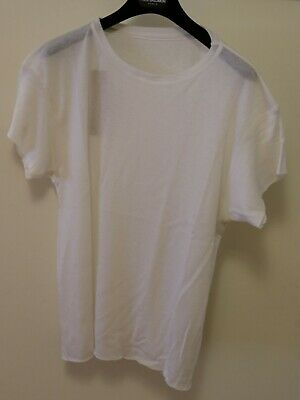 The Elder Statesman 'Favorite' Tshirt Cashmere Silk White Size Small Brand New