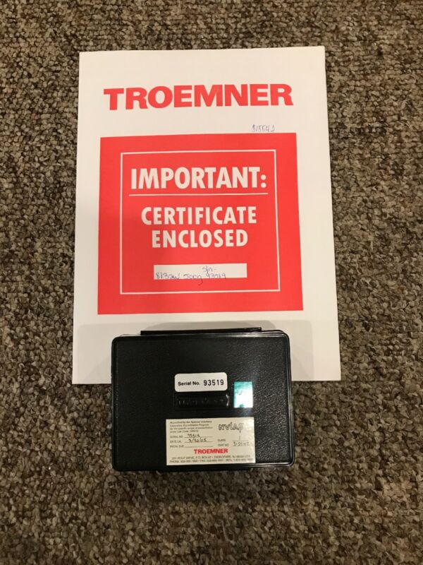 NEW NEW Troemner 500g Calibration Weight With Certificate
