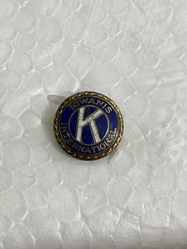 Vintage Collectible Kiwanis International 3cm Screw Back Tie Pin