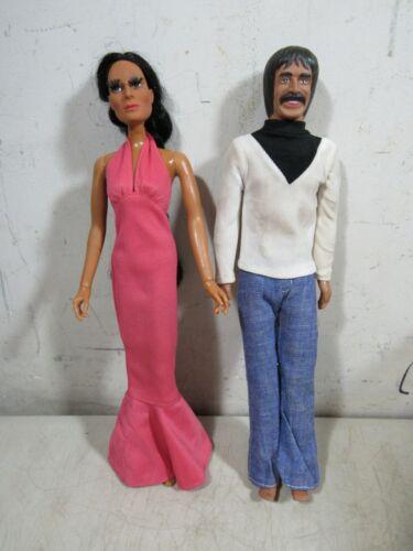 Vintage 1976 Mego Sonny & Cher Dolls Figures