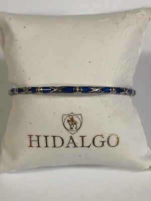 Hidalgo 925 And Blue Enamel Bangle Bracelet