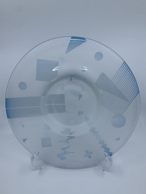 Caliente Hot Glass Studio Modern Cubist Geometric Design Glass Charger
