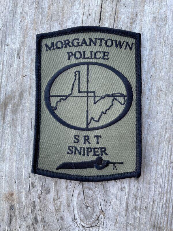 "Morgantown WV SRT Special Response Team SWAT Sniper Patch Velkro Rare 4"" Logo"