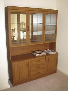 Wooden Cabinet with glass display top. Hahndorf Mount Barker Area Preview