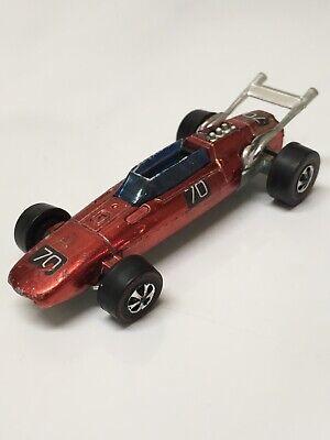 Hot Wheels Redline Indy Eagle 1969 Red #70 Made In Hong Kong