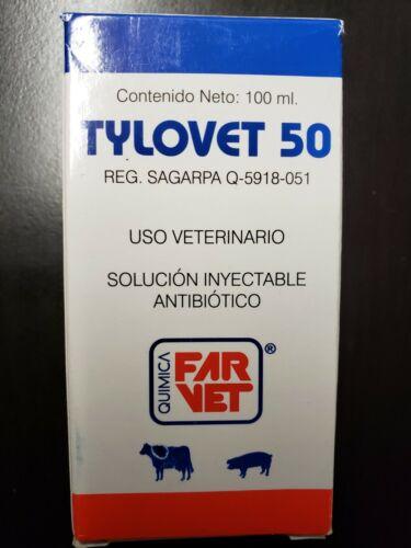 TyloVet 50 (Generic Tylan 50)- CRD treament - 100 ml (Date 2021)