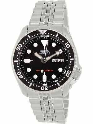 Seiko Men's Diver Automatic SKX007K2 Silver Stainless-Steel Diving Watch