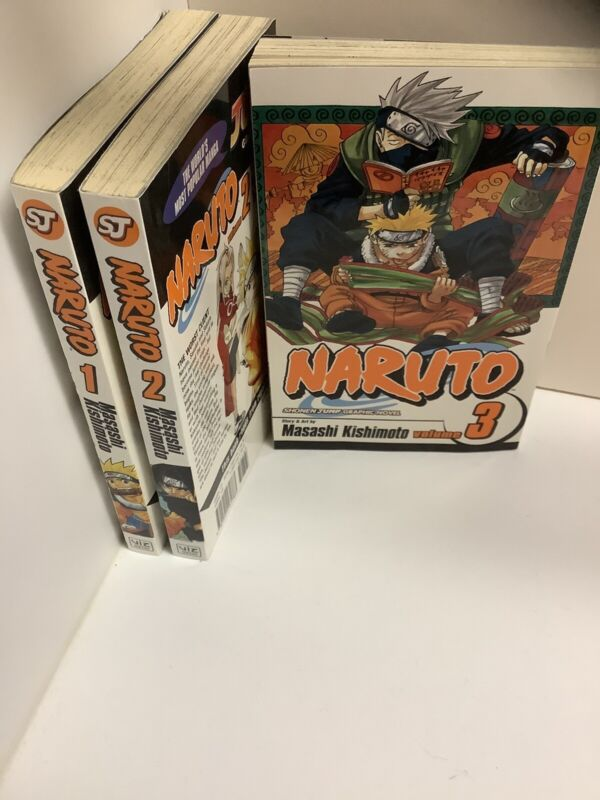 naruto comic books 1-3 first Three Books