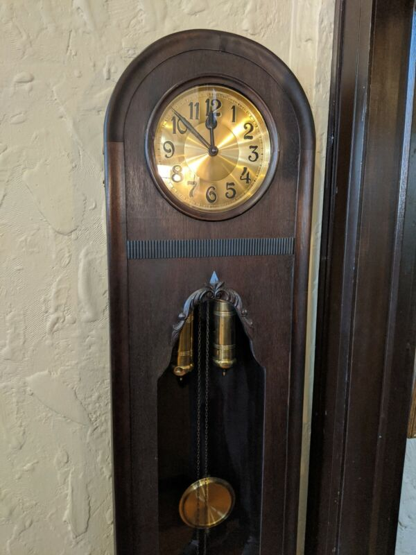 Authentic Grandfather Clock Antique German early 1900