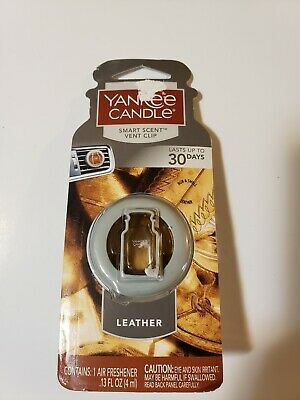 Yankee Candle Smart Scent Vent Clips Car & Home AC Air Freshener, Leather