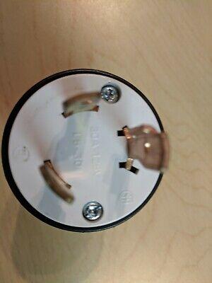 Used Cooper L5 125v 30 Amp Turn Pull Plug Nema Connector For Generator Rv
