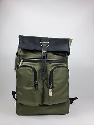 TUMI Alpha Bravo Rolltop Backpack-Green
