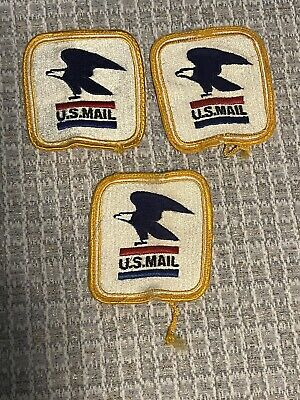Vintage US Mail Post Office Letter Carrier Patches Sew On Used USPS Bald Eagle