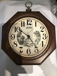 Linden Wall Clock Works Well , In Great Shape  and Includes C Battery