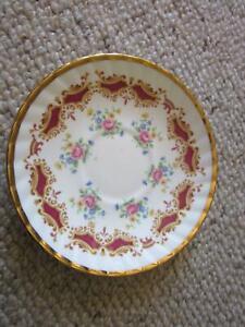 Elglish  bone china Elizabethan pattern 3 saucers Bradbury Campbelltown Area Preview