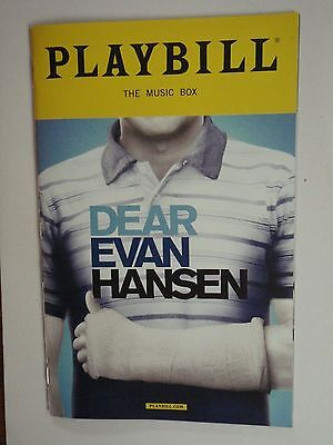 Dear Evan Hansen Playbill March 2017, Broadway musical