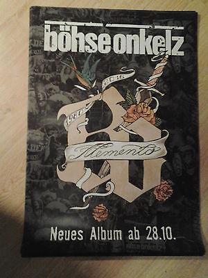 BÖHSE ONKELZ 2016 .Original Concert Poster DIN A 1 ,84 x 60 cm