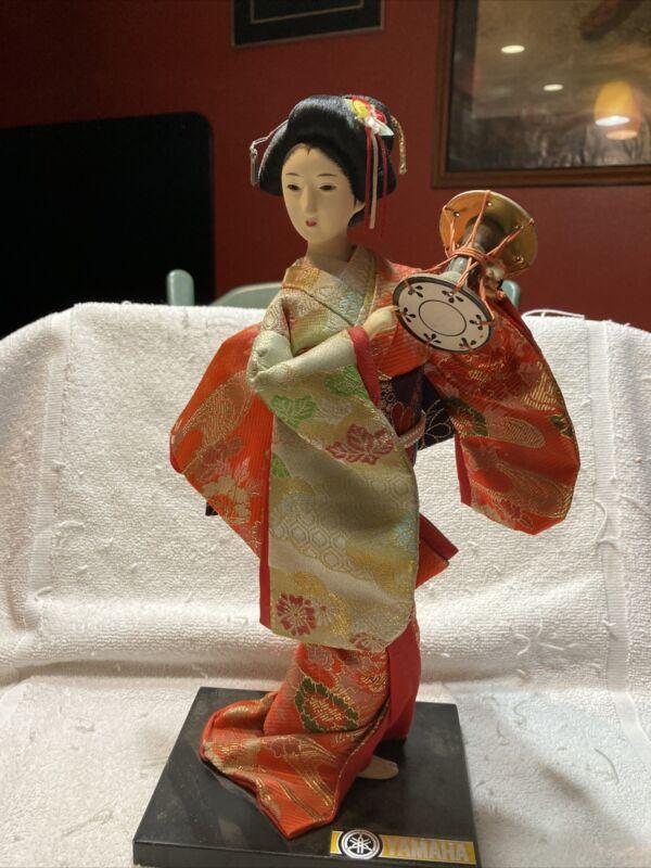 Kyugetsu Yahama Geisha Doll with Traditional Drum.