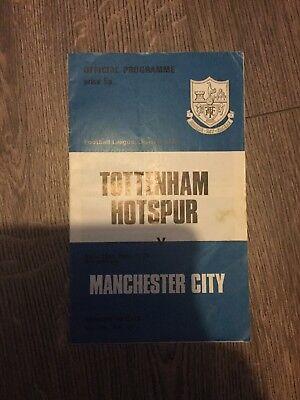 10th February 1973 10/02/73 vol 66 no40 Tottenham H. v Manchester City Programme