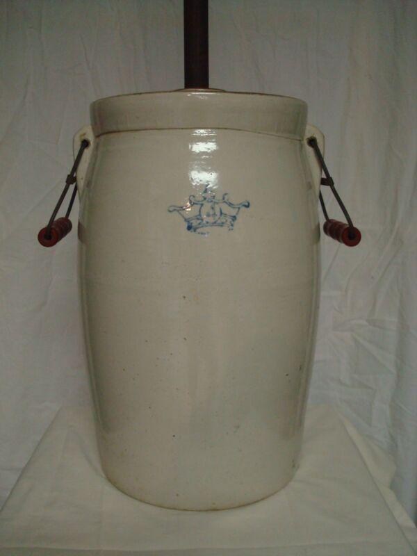 Vintage Antique Stoneware Butter Churn Dasher